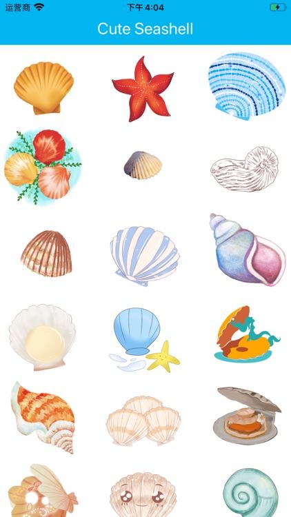 Cute Seashell Sticker
