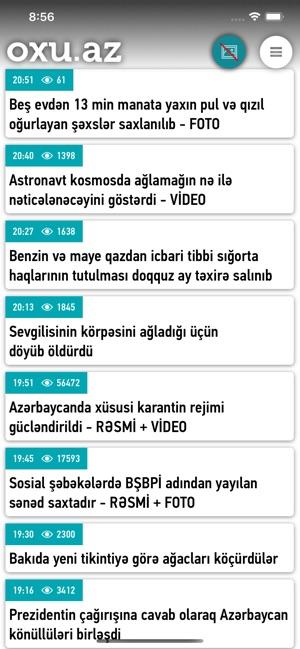 Oxu Az Azerbaycan Xeberleri On The App Store