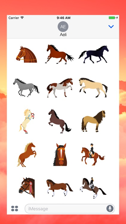 Horse Emojis for iMessage