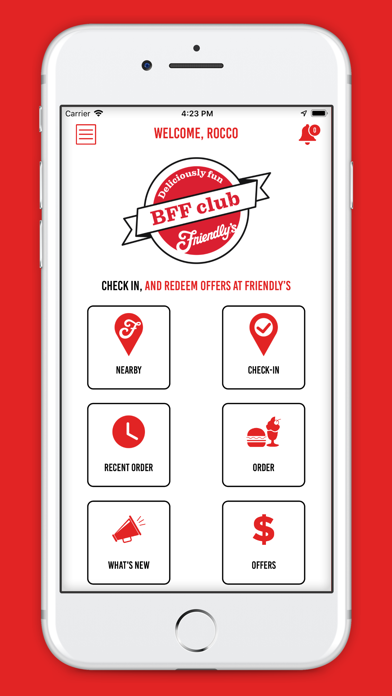 Friendly's Ordering screenshot two