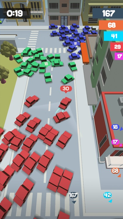 Crowd Drift Cars City io screenshot-0