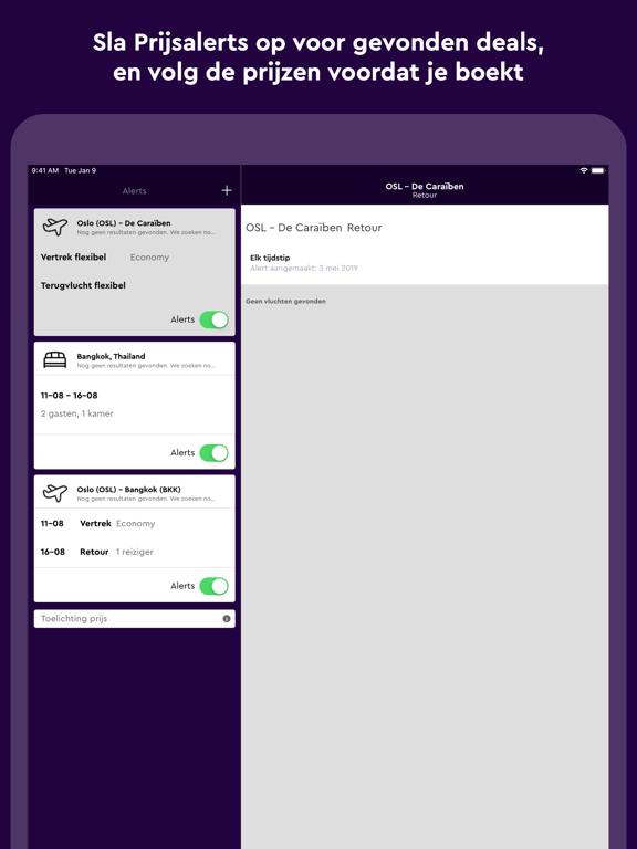 momondo iPad app afbeelding 5