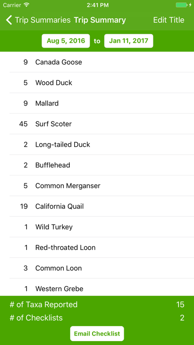 Screenshot for eBird in United States App Store