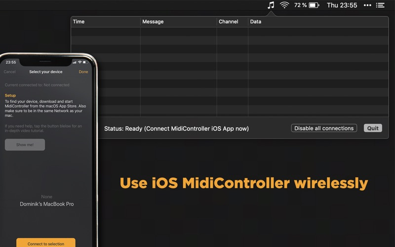MidiController Networker for Mac