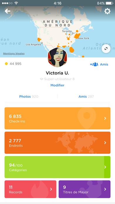 Screenshot #2 pour Foursquare Swarm: Check-in App