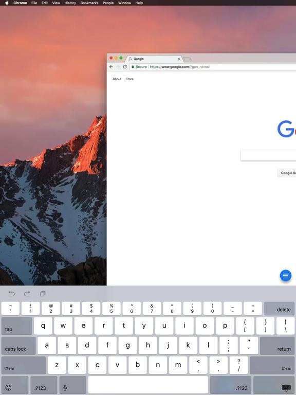 Chrome Remote Desktop-ipad-3