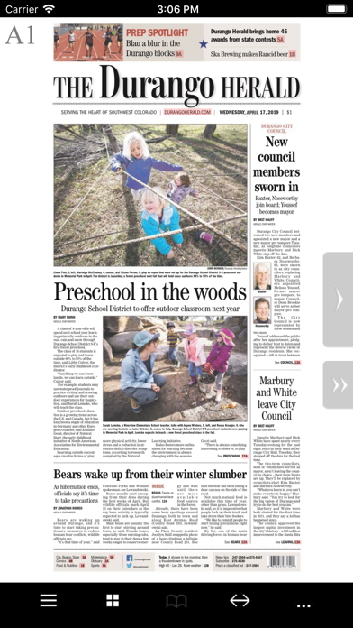 The Durango Herald E Edition screenshot one
