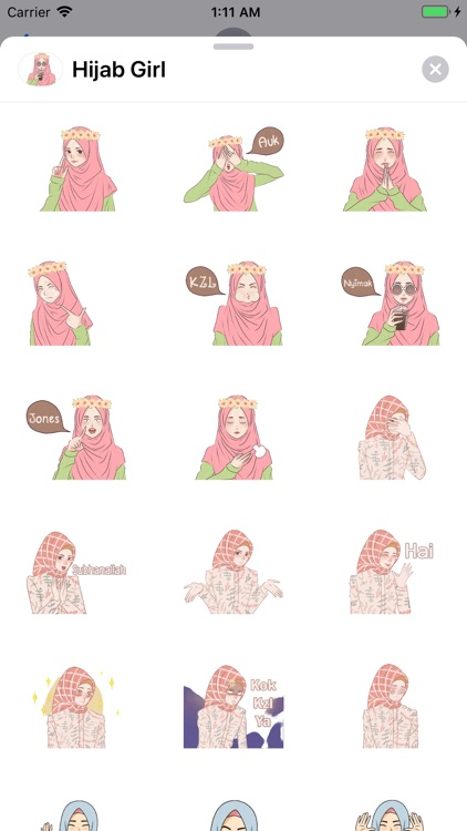 Hijab Girl Stickers iMessages screenshot-0