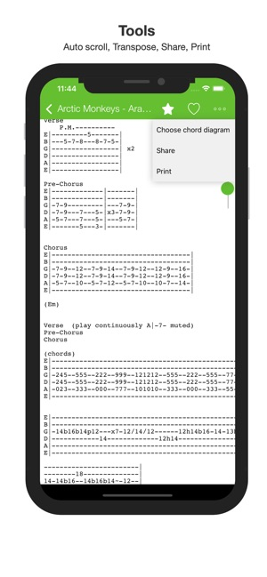 Guitar chords and tabs on the App Store