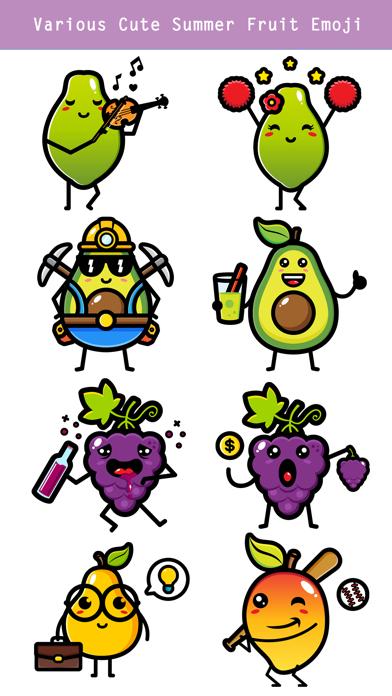 174 Cute Emoji - Summer Fruits screenshot 4
