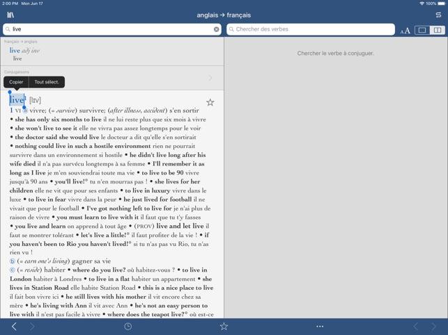 Le Robert Collins Compact Dans L App Store
