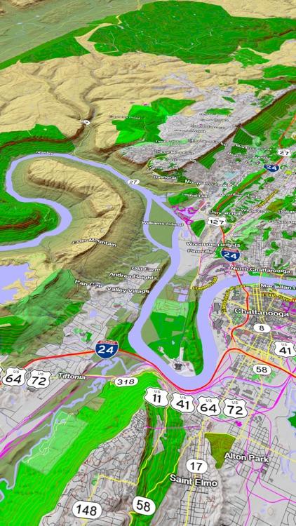 Scenic Map Eastern USA screenshot-3