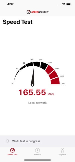 Speedchecker Speed Test Screenshot