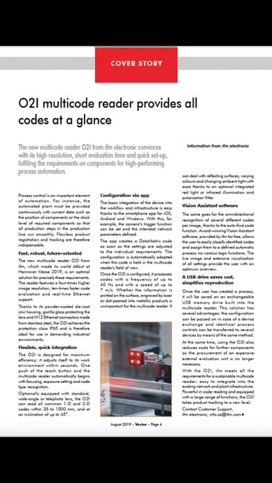 Vector Magazine screenshot three