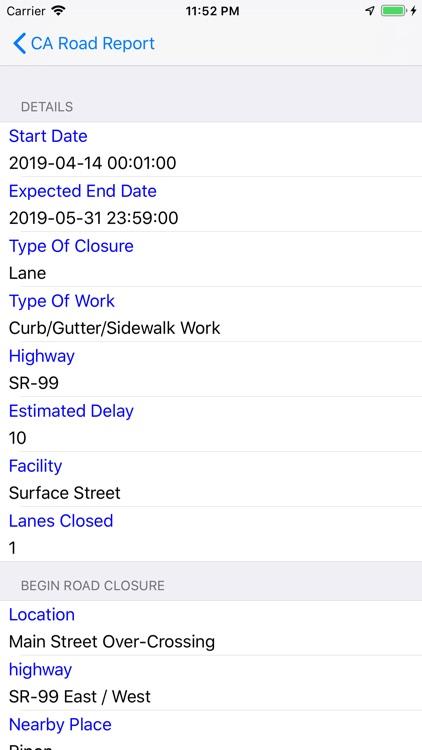 California Road Report screenshot-3
