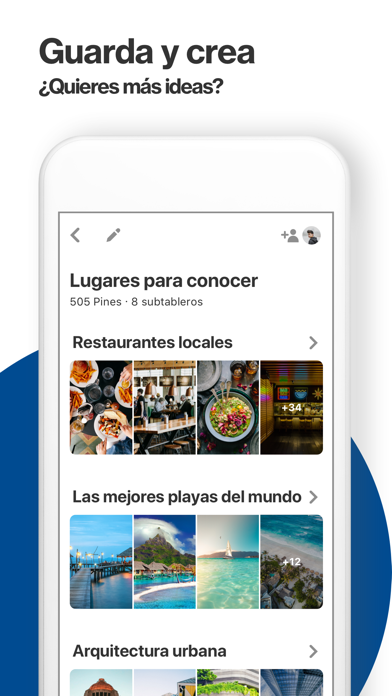 Screenshot for Pinterest in Argentina App Store