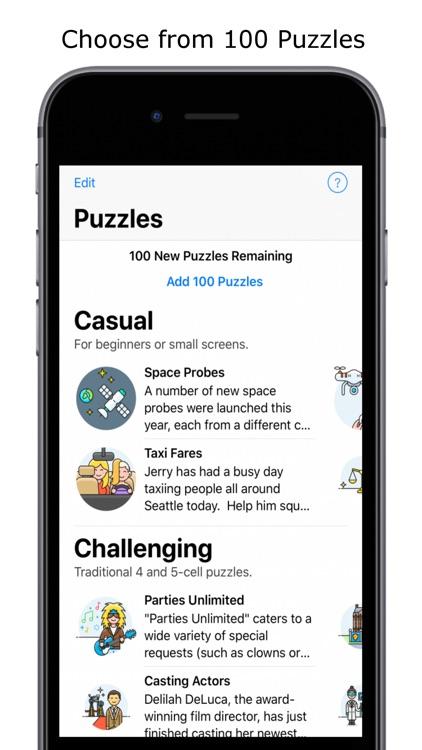 Logic Grid Puzzles screenshot-0