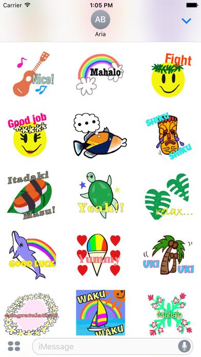 Hawaiian Life Icon Sticker screenshot 5
