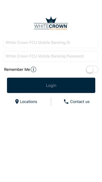 White Crown FCU Screenshot on iOS