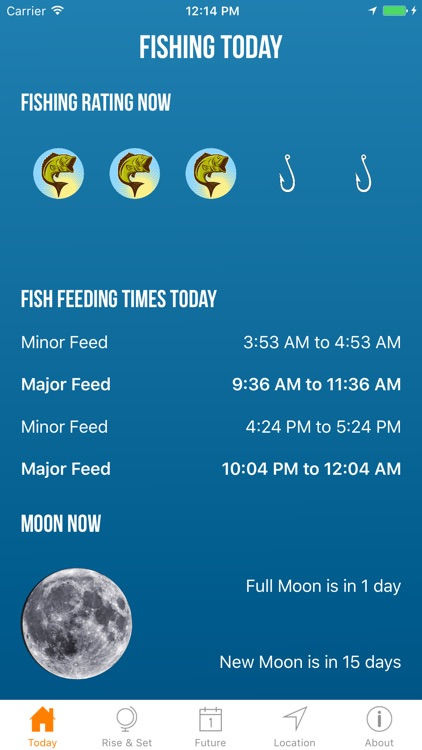 Solunar Best Fishing Times