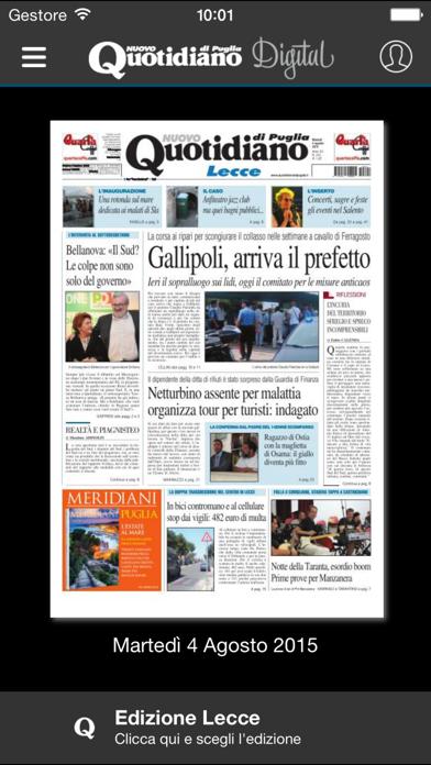 Quotidiano di Puglia screenshot one