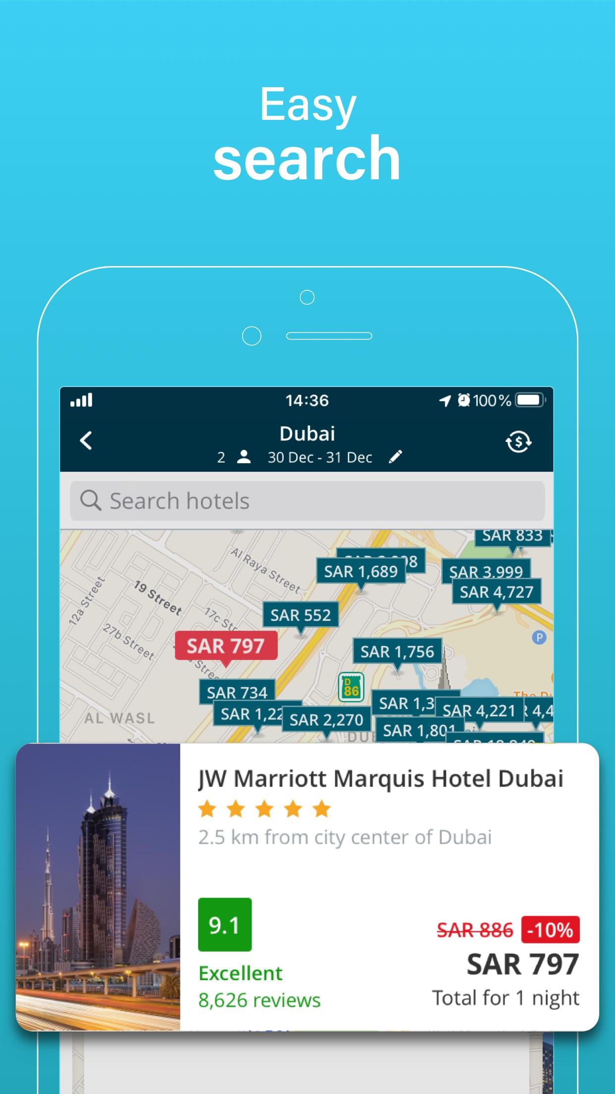 Almosafer: Hotels & Flights Screenshot