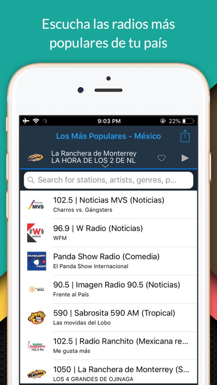 oiRadio México - Live radio screenshot-1