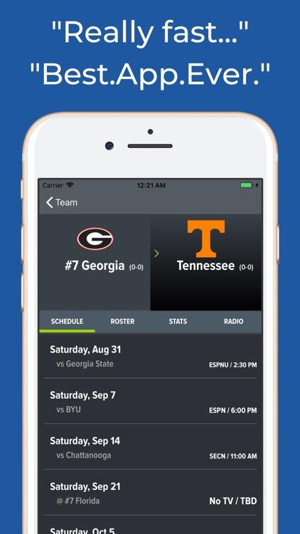 Georgia Football Schedules screenshot-8
