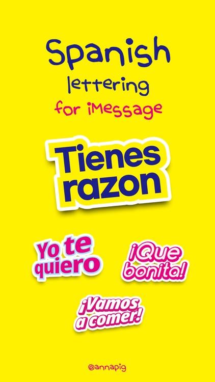 Spanish lettering for iMessage