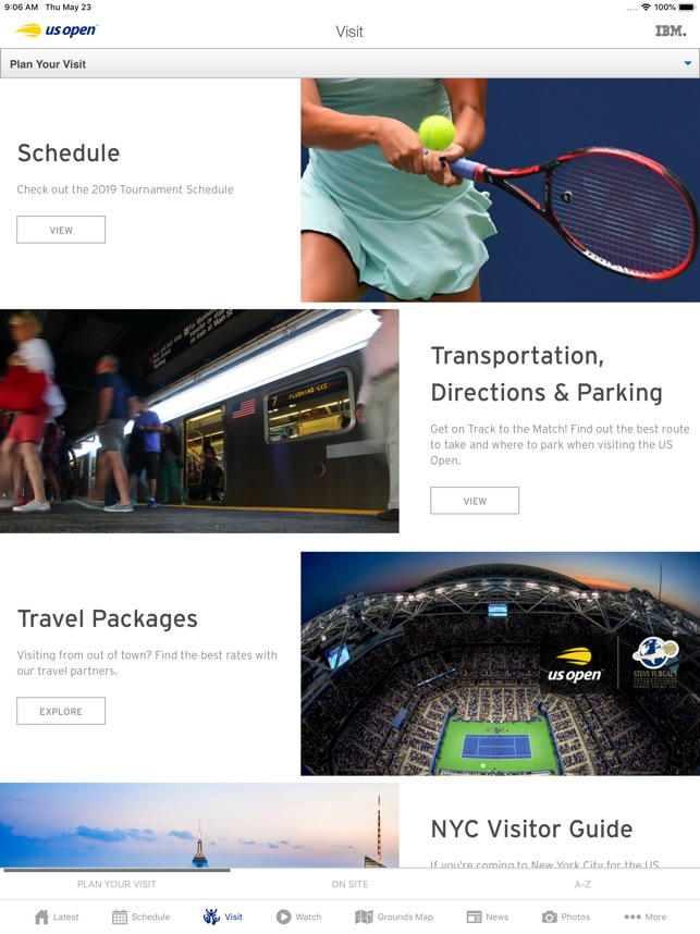 Us Open Tennis Championships On The App Store - Us-open-tennis-center-map