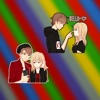 Young Lovers Couple Stickers