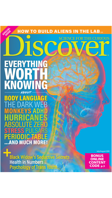 DISCOVER Magazine Screenshot