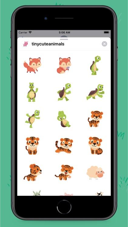 Tiny Animals Stickers screenshot-5