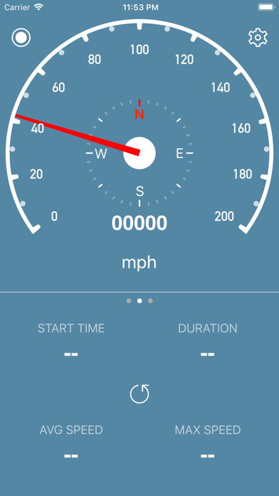 Screenshot for Speedometer Simple in United States App Store