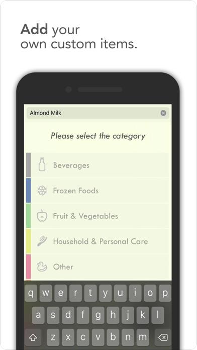 überliste - shopping list screenshot two