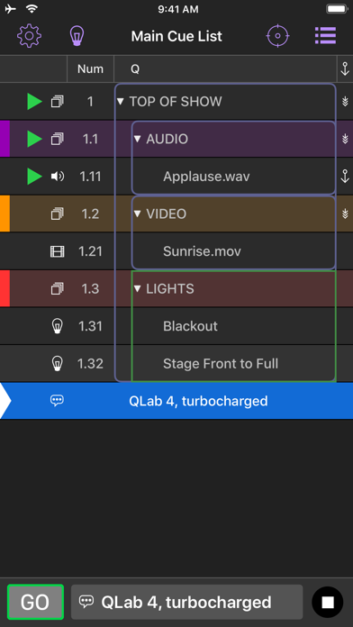 QLab Remote screenshot two