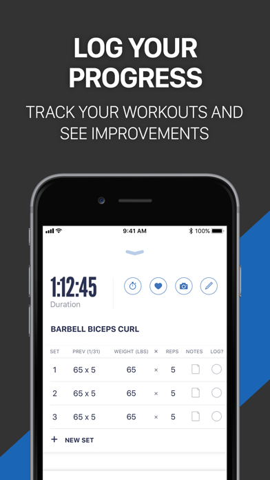 Fitness Buddy+ Gym Workout Log Screenshots