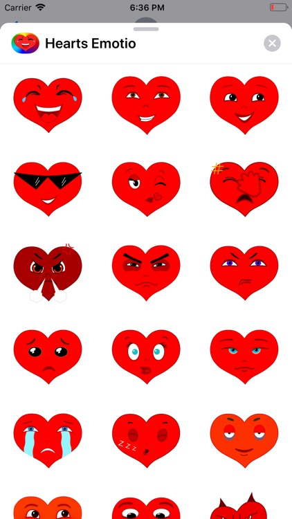 Hearts Emotio Stickers