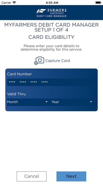MyFarmers Debit Card Manager