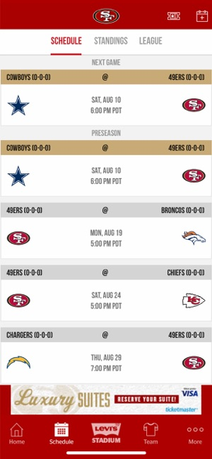 image relating to 49ers Printable Schedule named San Francisco 49ers upon the Application Shop
