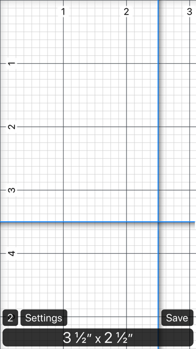 Ruler 2.0 - inch, mm, cm screenshot one
