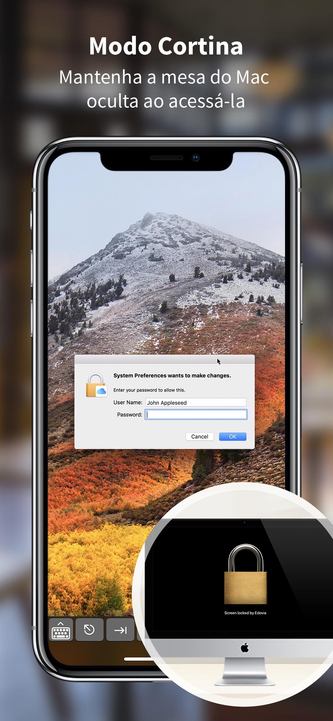 Screenshot do app Screens