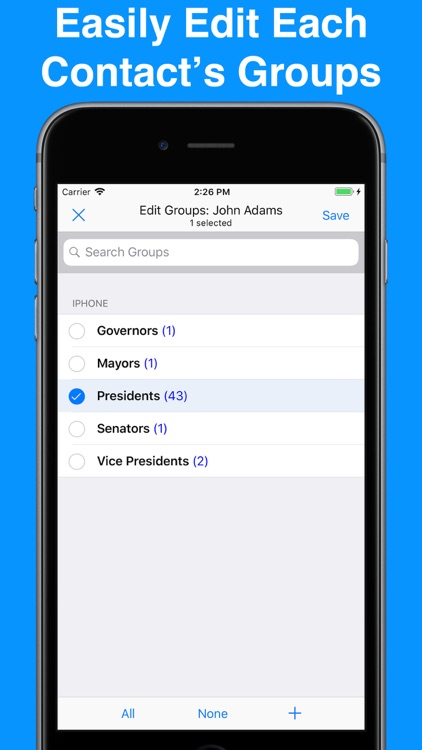 A2Z Contacts - Group Contacts screenshot-4