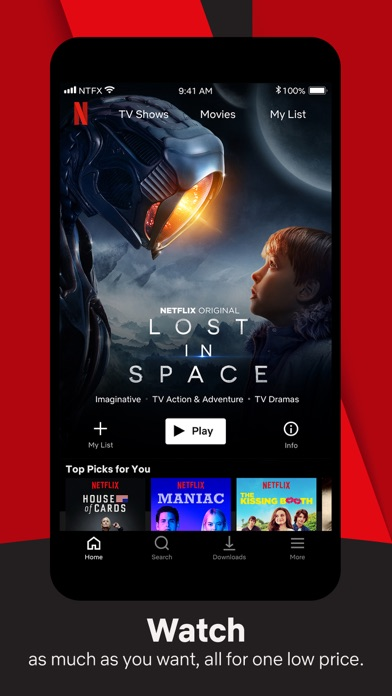 Screenshot for Netflix in Saudi Arabia App Store