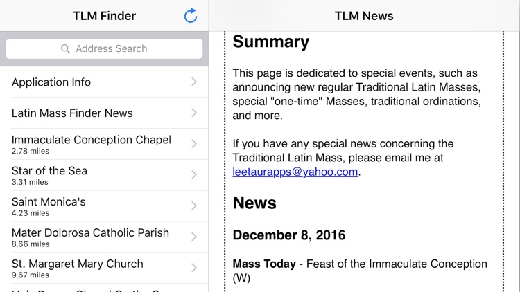 Traditional Latin Mass Finder