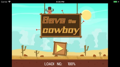 Save the cowboy-Cut the rope screenshot #1