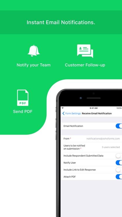 Mobile Forms App - Zoho Forms screenshot-5