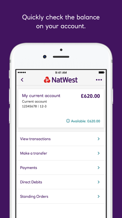 NatWest Mobile Banking screenshot one