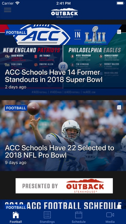 ACC Sports - Official App screenshot-0