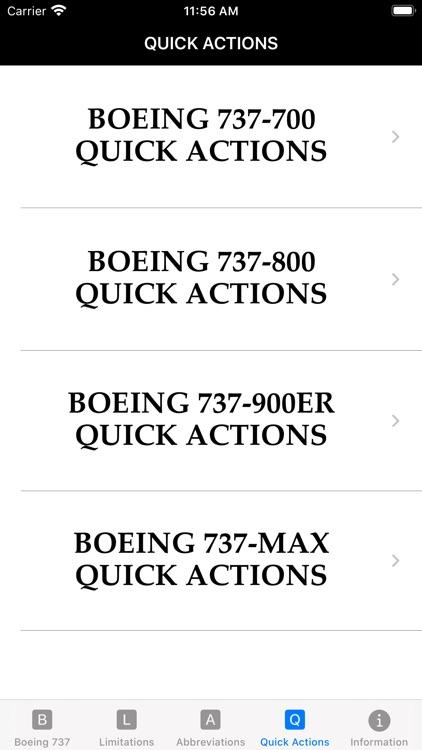 B737 Limitations Quick Actions screenshot-5